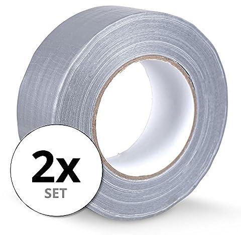 Stagecaptain DT-4850G-ECO ruban en tissu ruban adhésif Gaffa tape 50 m set de 2 gris