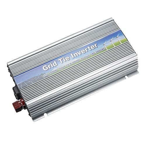 Descripción:       - Potencia: 1000W, rango de voltaje de entrada de CC: 10.5V-30V; Rango de voltaje de salida de CA: 180V-260V. - Rango de frecuencia de salida de CA: 50Hz-60Hz; Distorsión armónica total (THD): - Forma de onda de la corrient...