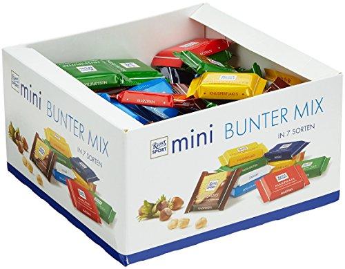 RITTER SPORT mini Bunter Mix Schokobox (84 x 16,67 g), 7 leckere Sorten, Vollmilchschokolade,...