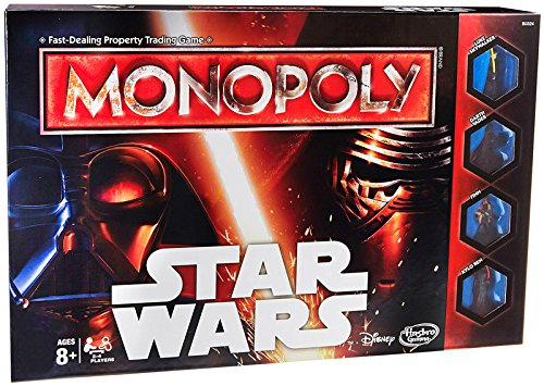 Hasbro Monopoly Game Star Wars Simulation Wirtschafts - Brettspiel (wirtschaftliche Simulation, Kinder/Mädchen, 8 Jahr (S), Box, 4 Character Tokens (2 Rebel, 2 Empire), 48 Grundlagen (All double-sided), 36 FORCE Cards, 4 Symbol...)