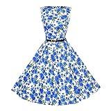 ITISME Damen Ärmelloses Beiläufiges Strandkleid Sommerkleid aus Spleißen Cocktailkleider Elegant