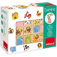 Goula - Dominó, pack de 28 piezas, diseño Zoo (Diset 50266)