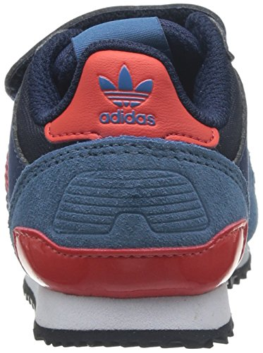 adidas Zx 700, Baskets mode mixte enfant Bleu (Collegiate Navy / Poppy / St Stonewash Blue F13)