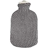 Sänger 2 Liter Wärmflasche Wärmeflasche Wärmekissen, Grobstrick-Bezug Metallic, Silber preisvergleich bei billige-tabletten.eu