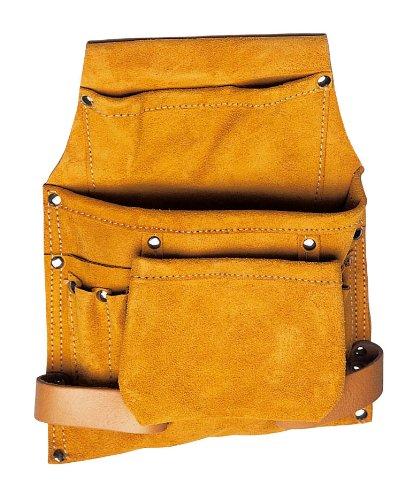 Maurer 84239 Sac à outils de charpentier, 3 poches et 2 fentes, beige