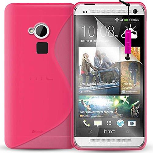 Schutzhülle weich Silikon Gel, Motiv S-Line für HTC One Max/Dual Sim - One Sim Max Dual Htc