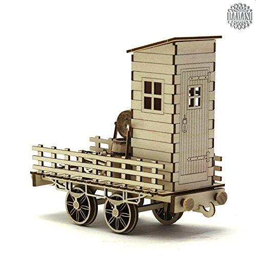 damasu BS_SAX259 / Bausatz-Modellbau Eisenbahn Werkstattwagen natur