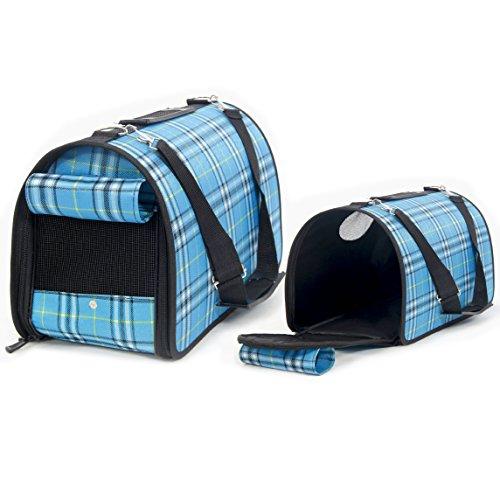Itian Portable Cane Cucciolo Trasportino Borsa Pet Gatto portante del cane del gatto Comfort borsa da viaggio resistente e traspirante completa Zipper (Azzurro)