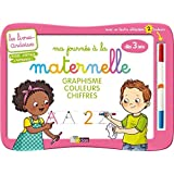 Livres-ardoises - Ma journée à l'école maternelle + 1 feutre 2 couleurs