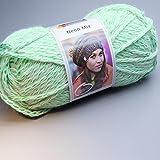 Schachenmayr Neon Mix 170 natur-neon grün 150g Wolle