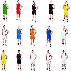 Legea Kit Basket Detroit Completo Baloncesto Para Hombre Sport Pegashop (NARANJA-NEGRO, M)