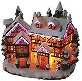 Beleuchtete Fachwerkhaus Fiberoptik mit Farbwechsel Weihnachtshaus