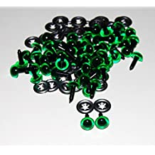 85293381c968fc Lot de 50 paires – Yeux en cristal avec attaches en métal – 18 mm –
