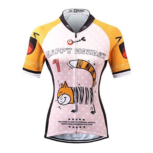 Thriller Rider Sports® Damen Happy Every Day Sport & Freizeit MTB Fahrradbekleidung Radtrikot X-Large (Frau Flugzeug Shirts)