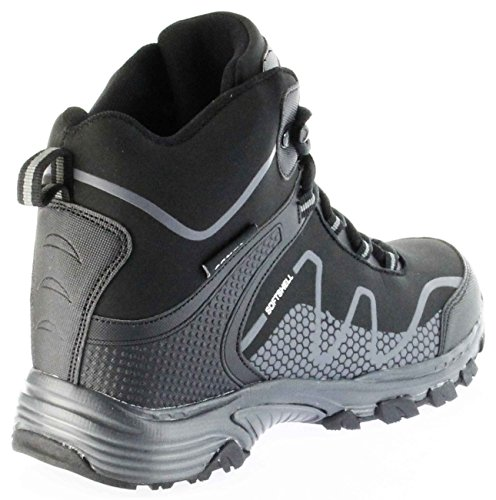 ConWay Outdoor-Wanderschuhe Stiefel Schuhe black Softshell TEX Damen Herren Riga Schwarz