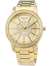 Mike Ellis New York M3094/1 - Reloj de pulsera para mujer, acero inoxidable, color dorado