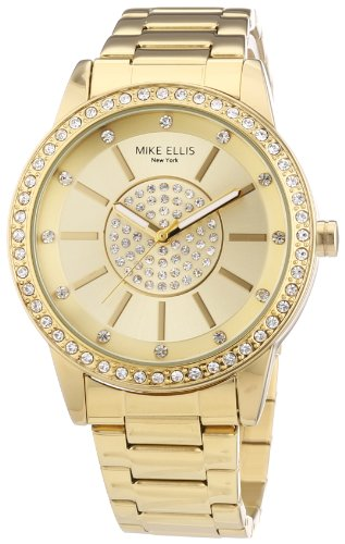 MIKE ELLIS NEW YORK M3094/1 - RELOJ DE PULSERA PARA MUJER  ACERO INOXIDABLE  COLOR DORADO