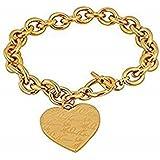 Michael Kors MKJ3963710 - Braccialetto dorato con ciondolo a forma di cuore