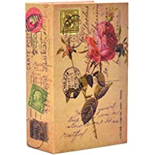 Money Safe Diversion Books Libro seguro oculto portátil a prueba de fuego con cerradura de combinación