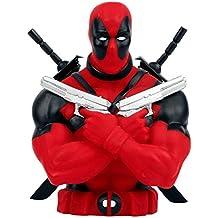Deadpool-Superhéroes-Hucha-Figura para coleccionistas para fans de Marvel Comic- Busto 20cm-Plástico