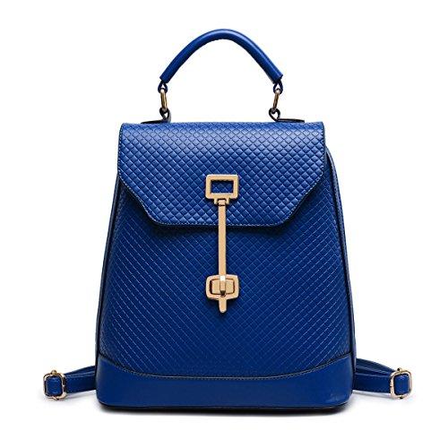 Frau Neu Argyle Rucksack Freizeit Mode Allgleiches Große Kapazität Tasche,Blue-OneSize -