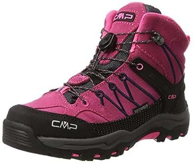 CMP Unisex-Erwachsene Rigel Mid Trekking-& Wanderstiefel, Grau (Antracite-Red Fluo 95bd), 36 EU