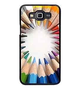 Fuson Designer Back Case Cover for Samsung Galaxy Core Prime :: Samsung Galaxy Core Prime G360 :: Samsung Galaxy Core Prime Value Edition G361 :: Samsung Galaxy Win 2 Duos Tv G360Bt :: Samsung Galaxy Core Prime Duos (pen pencil wrinting instrument colourful )