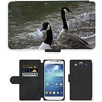 Grand Phone Cases PU Flip Carcasa Funda de Cuero Piel Cubre Case // M00140695 Branta Canadensis Canada Goose Uccello // Samsung Galaxy S3 S III SIII i9300