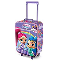 Karactermania Shimmer and Shine Rainbow-Soft 3D Trolley Suitcase Children