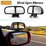 Specchietto cieco Auto Angolo ciec Universale 2PCS,Specchio Retrovisore Grandangolo Regolabile Specchietti per Auto Moto
