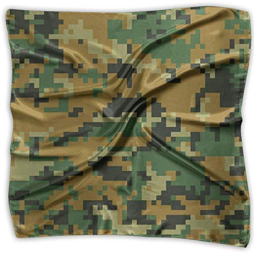 Rghkjlp Green Camo Square Handkerchiefs Scarf Shawl Bandanas Headscarf Neckerchief Tie Hair Scarf -