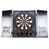 MCTECH® Profi Elektronische Dartscheibe Dartboard Dartona Soft-Dartpfeile Steeldart 12 Dartfeile + 202 Varianten (type C)