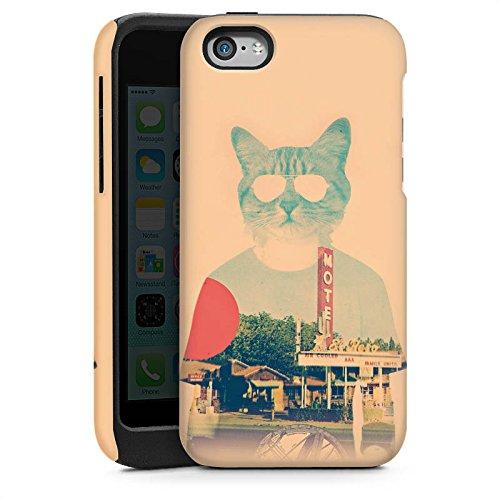 Apple iPhone 5 Housse Étui Silicone Coque Protection Chat Le chat Ip Animal domestique Cas Tough brillant