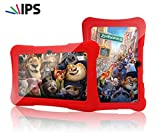 Special Offer IPS Kids Tablet - Tecwizz 7 Inch Kids Jumbo IPS Tablet PC Bundle (Quad Core, 8GB, HD, Google Android Kitkat 4.4, WIFI Enabled) + Extra Heavy Duty Kid Proof Silicon Case (Red)