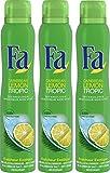 Fa - Déodorant - Lemon Tropic - Atomiseur 200 ml - Lot de 3