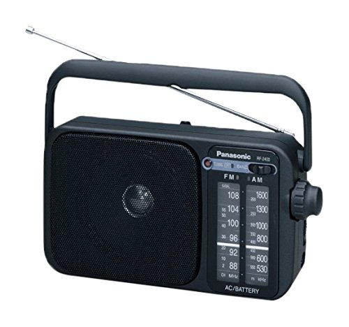 Panasonic RF-2400EG9-K Tragbares Radio (Analog-Tuner (UKW/MW), Netz- und Batteriebetrieb) schwarz