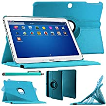 "ebestStar–Para Samsung Galaxy Tab 410.1SM-T530, T531T535–Funda–carcasa de piel PU soporte giratorio 360° + lápiz táctil, color azul [Dimensions precises de votre calentador: 243.4X 176.4X 8mm, pantalla 10.1""]"