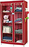 CbeeSo 8 Racks Foldable Cupboard in Maroon Color - Strong Structure with 2 YEARS Warranty.(CB265-MR). EXTRA OFF
