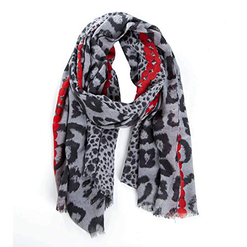 ZQY Damen Schal Leopard Muster Schlauchschal Halstuch in aktuellen Trendfarben