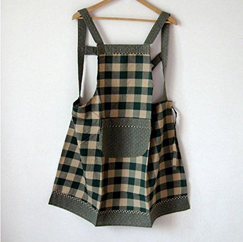 algodón sin mangas de la tela escocesa delantales anti viste el vestido del vestido de los hombres de las mujeres