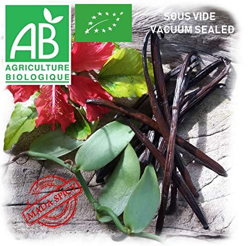 20g Vanilleschoten schwarz premium qualitat aus Madagascar (6 Schoten Lange 15cm bis 18 cm) -