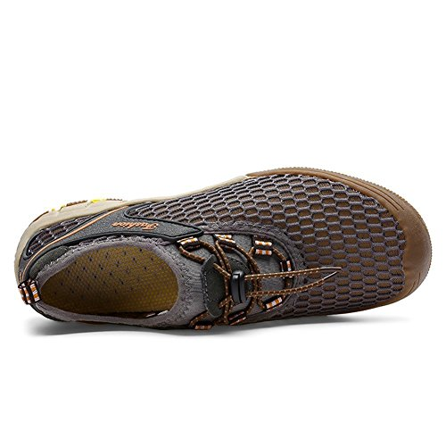 Eagsouni® Hommes Respirante mesh Water Shoes Séchage Rapide sport Chaussures aquatiques plage Chaussons Gris