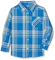 TOM TAILOR Kids Boy's Basic Patterned Shirt Blouse, Blue (Victoria Blue), 104 (Manufacturer Size: 104/110)