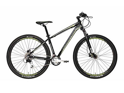 29 Zoll Herren Mountainbike 27 Gang Adriatca Wing RX, Farbe:schwarz-grün, Rahmengröße:43cm