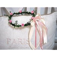 Pelo joyas Color Rosa Crema de joyas boda corona flores pelo Niño Comunión