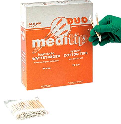 Ouate de Medi Tip Duo Support avec tête recto verso, 24x, 100pcs
