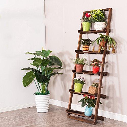 Multi-tier-flower pot rack Massivholz Balkon treppe anlage ständer Konservierungsmittel für die moderne einfache creative floor ständer rack-A (Klar, Holz-konservierungsmittel)