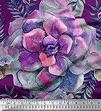 Soimoi Lila Seide Stoff Blätter & Begonie Blumen- Dekor