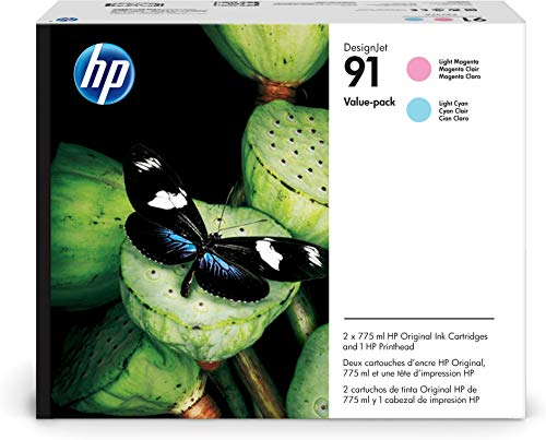Hewlett Packard P2V37A passend für DNJ Z6100 Druckkopf HP91 775ml Light Magenta + 775ml Light Cyan -