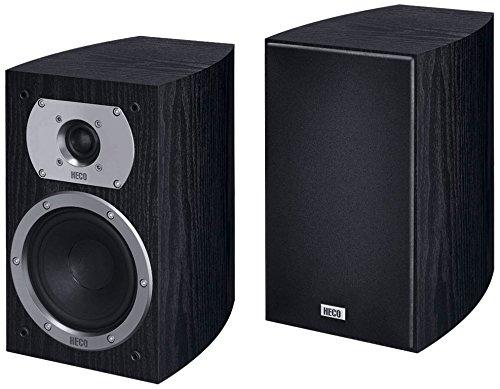 Heco Victa Prime 202 | 2 Wege Heimkino- und Stereo-Regallautsprecher | 1 Paar, Farbe:Schwarz